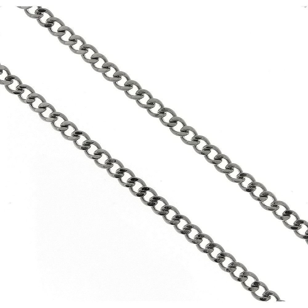 CHAIN NECKLACE CURB STAINLESS STEEL 3 MM X 24 ENDLESS (DOZ)