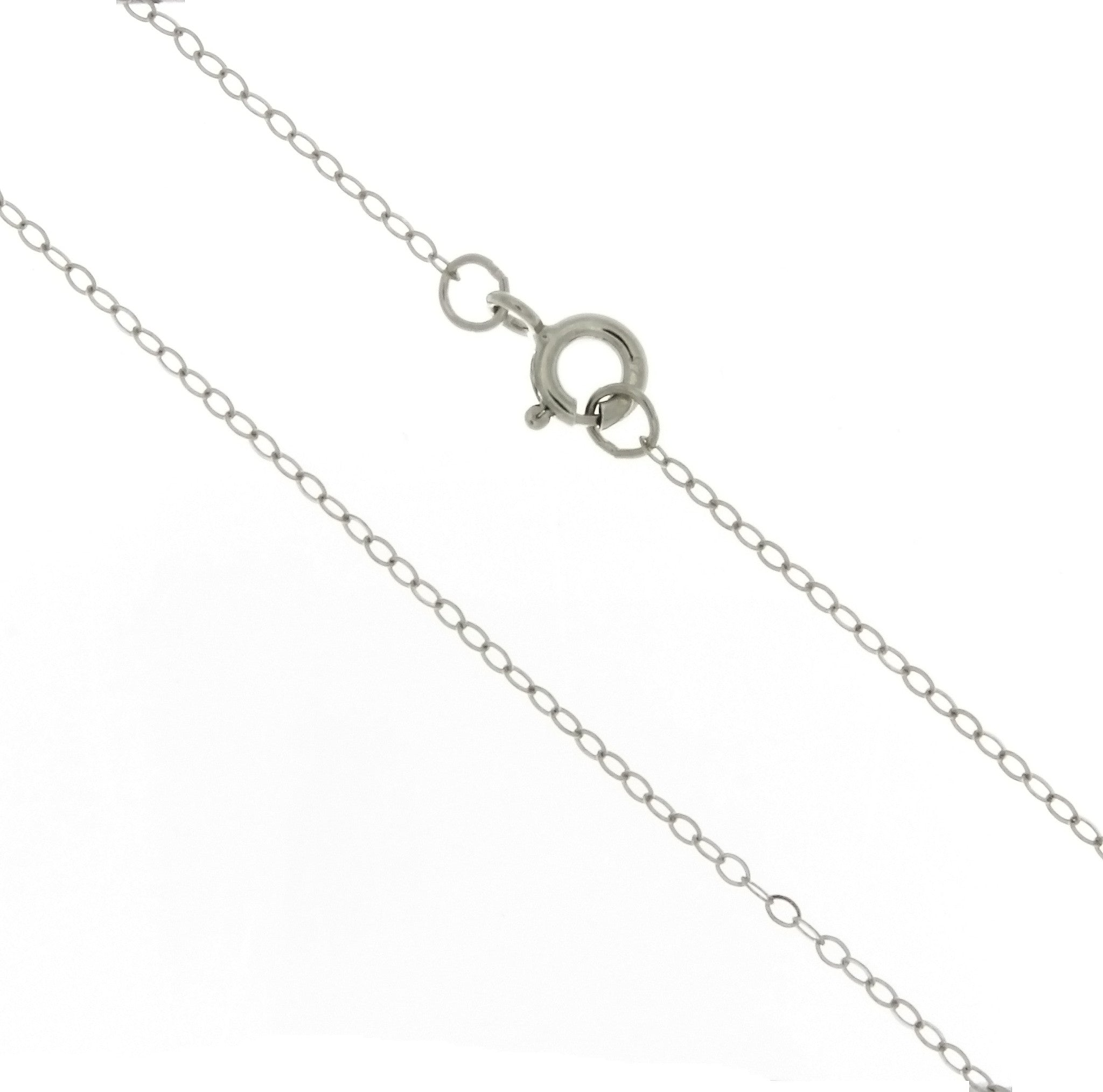 CHAIN NECKLACE CABLE SS 1 MM X 18 IN