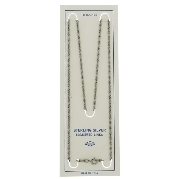 CHAIN NECKLACE ROPE SS 2 MM X 18 IN