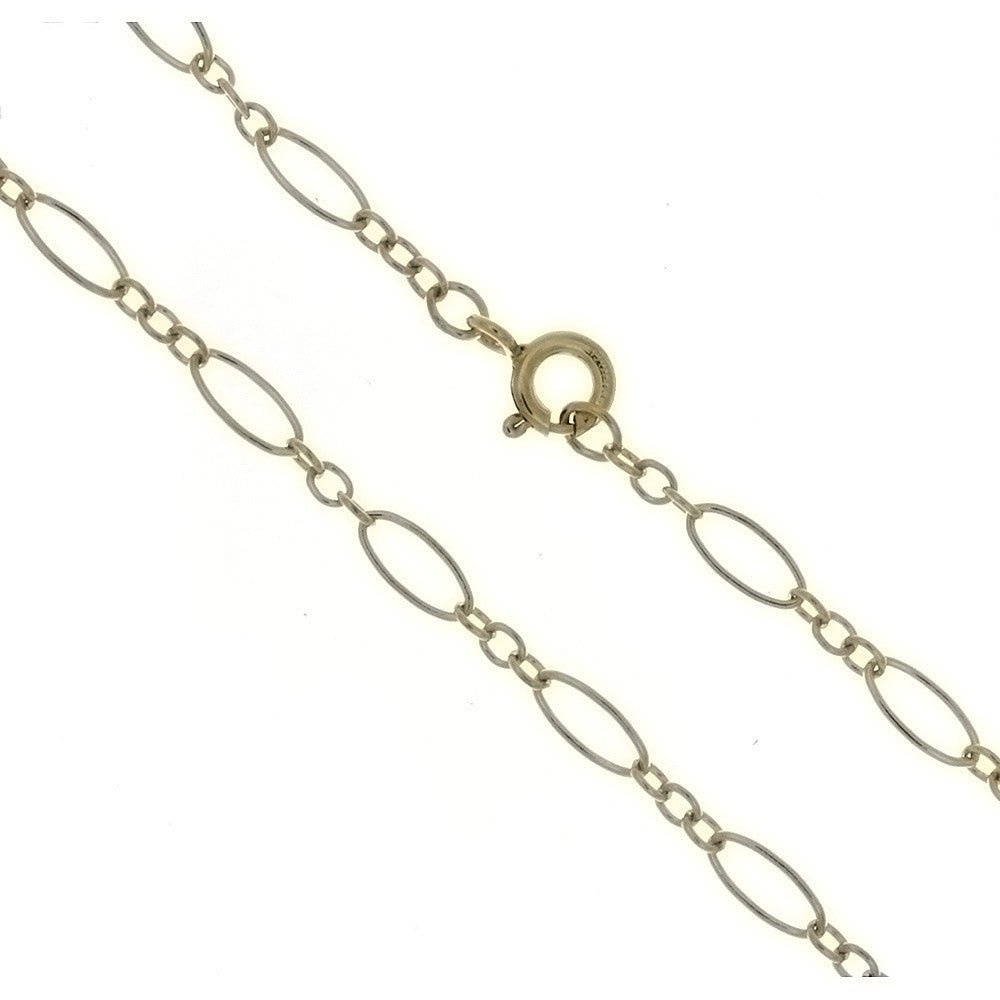 CHAIN NECKLACE LOOP LINK GF 3 MM X 18 IN