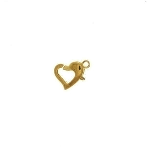 CLASP LOBSTER CLAW W/ HEART FINDING (1 DOZ)