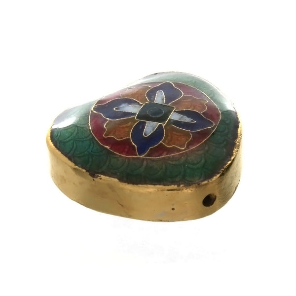 CLOISONNE HEART 26 X 27 X 28 MM LOOSE