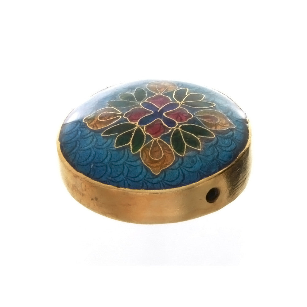 CLOISONNE COIN FLOWER 6 X 14 X 30 MM LOOSE