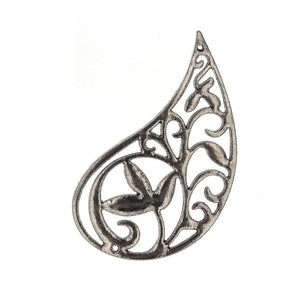 DESIGN PAISLEY PEWTER CHARM