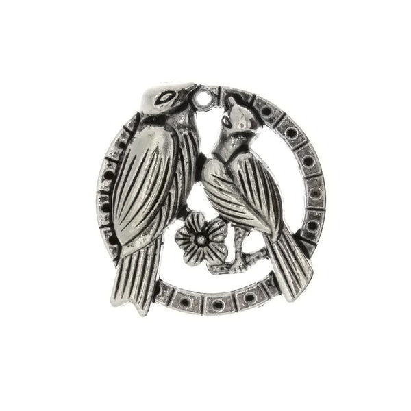 ANIMAL LOVEBIRDS 26 MM PEWTER CHARM