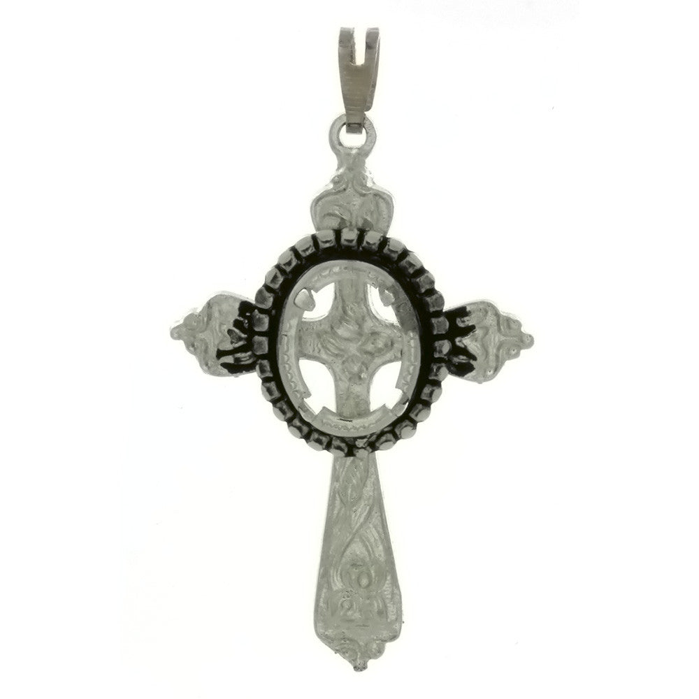 CABOCHON CROSS 8 X 10 MM PENDANT