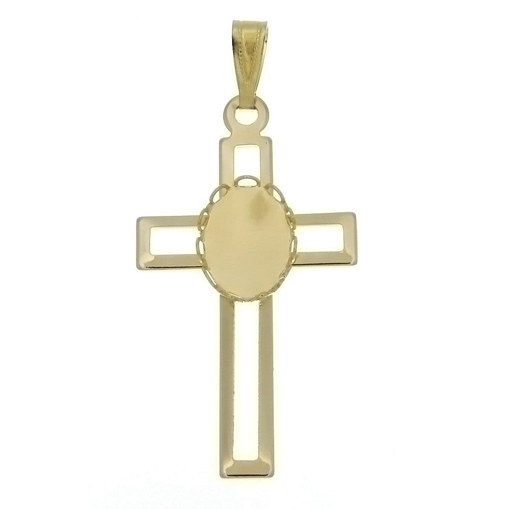 CABOCHON CROSS 10 X 14 MM PENDANT