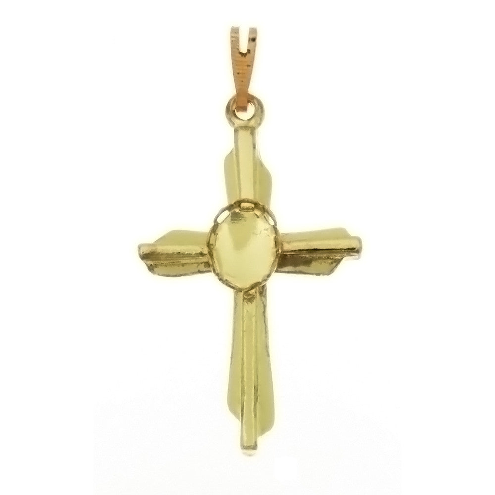 Cabochon Setting Cross Pendant Holds 6x8 mm Cabochon