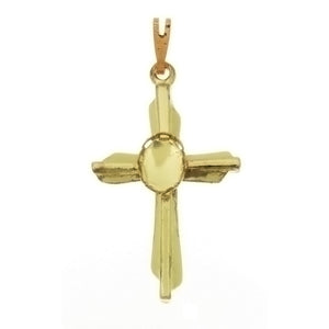CABOCHON CROSS 6 X 8 MM PENDANT