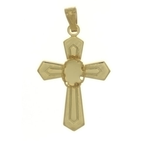 CABOCHON CROSS 4 X 6 MM PENDANT