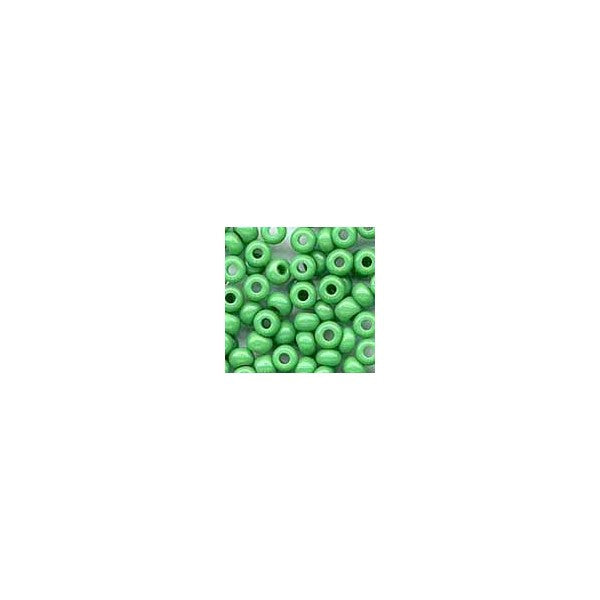 BEADS MED. GREEN GLASS SEED