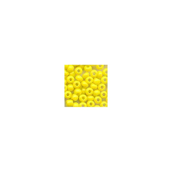 BEADS YELLOW GLASS SEED