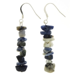 DANGLE CHIP SODALITE EARRINGS