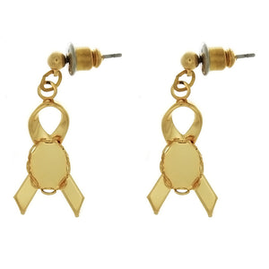 DROP CABOCHON RIBBON 6 X 8 MM EARRINGS