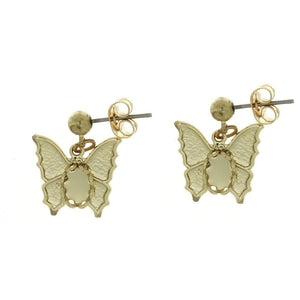DROP CABOCHON BUTTERFLY 4 X 6 MM EARRINGS