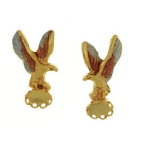 STUD CABOCHON EAGLE 4 X 6 MM EARRINGS