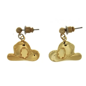 DROP CABOCHON COWBOY HAT 4 X 6 MM EARRINGS