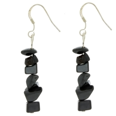 DANGLE CHIP HEMATITE EARRINGS