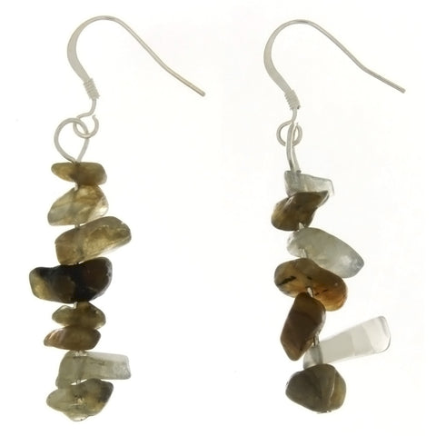 DANGLE CHIP LABRADORITE EARRINGS