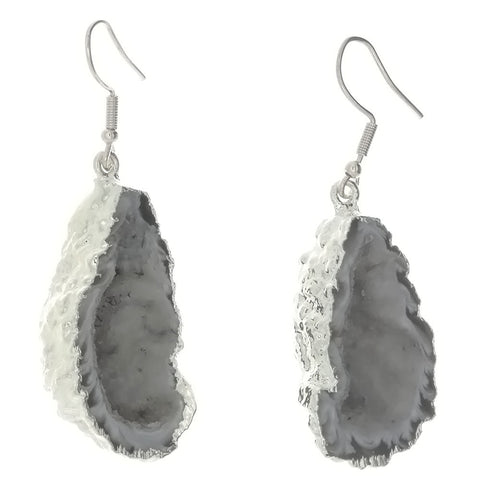 DROP AGATE GEODE EARRINGS