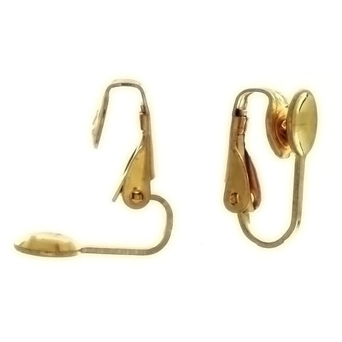X CLIP-ON FLAT EARRINGS (12 PAIR)