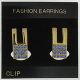 CLIP-ON SWAROVSKI CRYSTAL EARRINGS