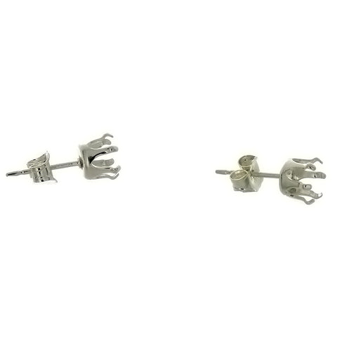 X STUD GEM MOUNT ROUND 5 MM SS EARRINGS