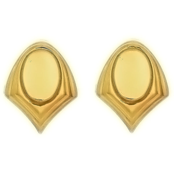 STUD CABOCHON SHIELD 10 X 14 MM GF EARRINGS