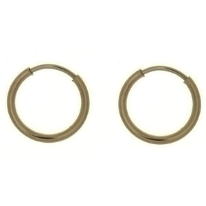 X HOOP 10 MM GF EARRINGS