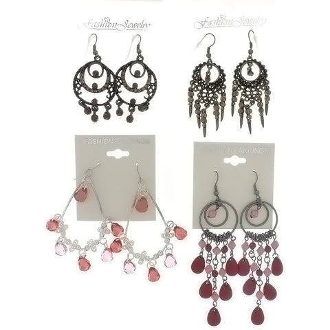 DANGLE CHANDELIER EARRINGS (6 PR)