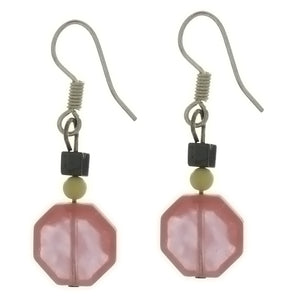 DANGLE GEMSTONE SHAPE EARRINGS