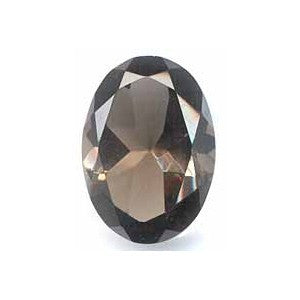 GEMSTONE QUARTZ SMOKY OVAL FACETED GEMS