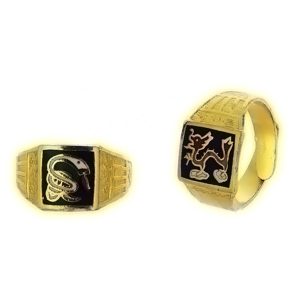 ADJUSTABLE BAND CLOISONNE ZODIAC RING (12)