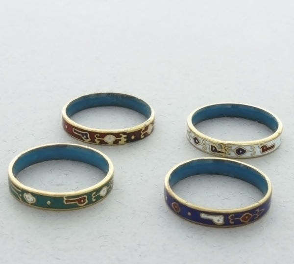 BAND CLOISONNE DESIGN RING (7)
