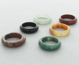 BAND GEMSTONE PLAIN 6 MM RING (100)