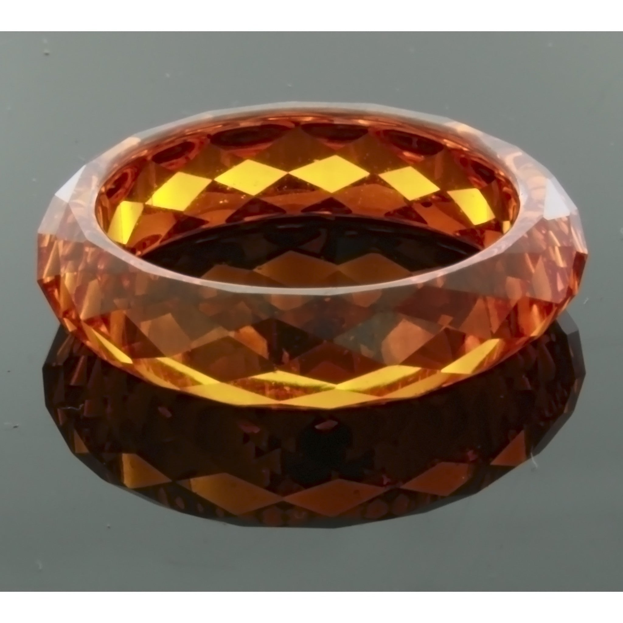 BAND CZ ORANGE SIZE 6 RING