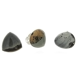 ADJUSTABLE BAND PAINTBRUSH JASPER SHAPE RING (3)