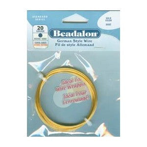 BEADALON 24 GAUGE ROUND GOLD WIRE (12 M)