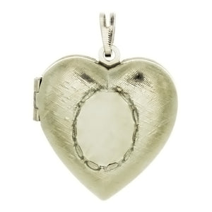 Cabochon Setting Locket Heart Pendant Holds 10x14 mm Oval Cabochon