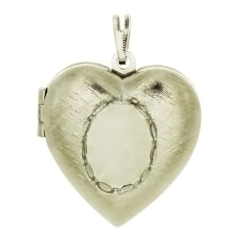 CABOCHON LOCKET HEART 10 X 14 MM PENDANT