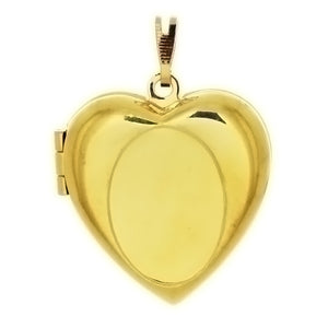 Cabochon Setting Locket Heart Pendant Holds 18x13 mm Oval Cabochon