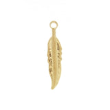 NATURE FEATHER 3/4 IN BASE CHARM (12)