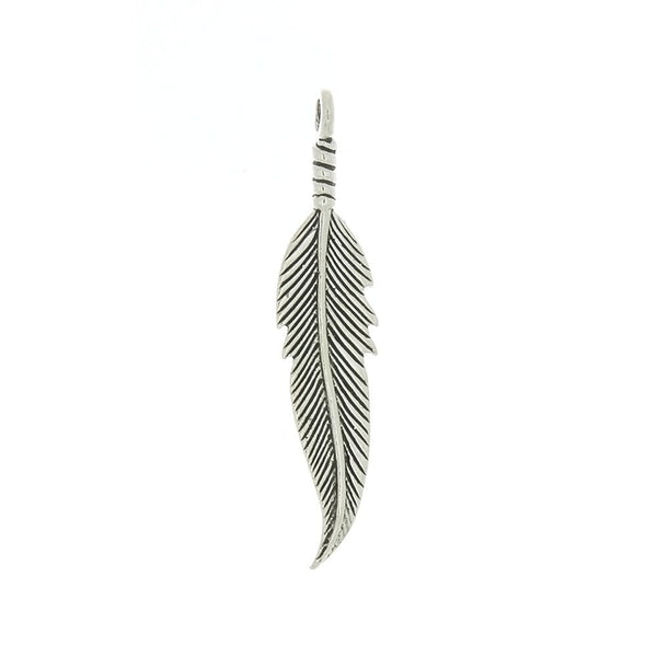 NATURE FEATHER 1 1/2 IN SS CHARM
