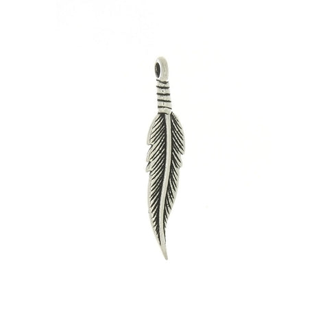 NATURE FEATHER 1 1/4 IN SS CHARM