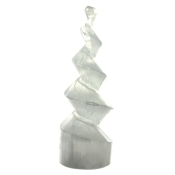 SPECIMEN NATURAL SELENITE TOWER