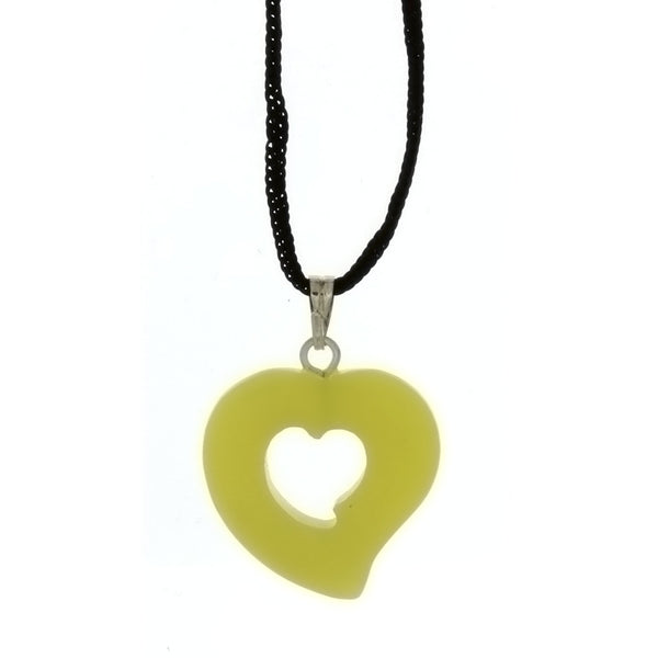 CORDED GEMSTONE VARIOUS HEART NECKLACE