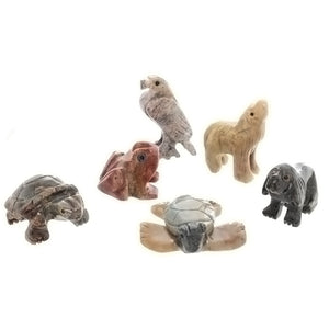 ANIMAL ASSORTED SOAPSTONE CARVING (3)