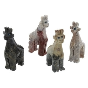 ANIMAL GIRAFFE SOAPSTONE CARVING (3)