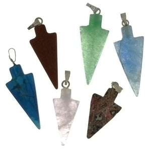 PENDANT GEMSTONE 30 MM ARROWHEAD (6)