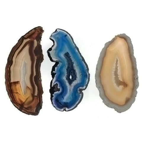 SLAB GEMSTONE BRAZILIAN AGATE (6 PC)